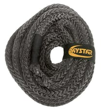 """Daystar KU10203BK 3/4"""" X 25'  Black Rope, Loop Ends with Nylon Recovery Rope Bag"""