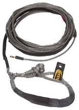 "Daystar KU10402BK 1/4"" X 50' Black Winch Line with Shackle End"