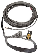 "Daystar KU10404BK 3/8"" X 80' Black Winch Line with Shackle End"