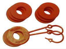Daystar KU70060AG D-Ring & Locking Washer Set, 2 locking, 6 non-locking, Orange