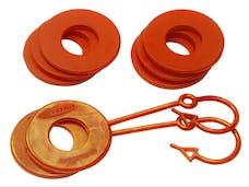 Daystar KU70059FA Locking D-Ring Isolator & Washer Set, Fl. Orange