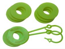 Daystar KU70060FG D-Ring & Locking Washer Set, 2 locking, 6 non-locking, Fl. Green
