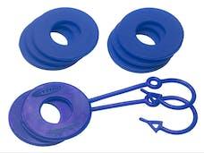 Daystar KU70060RB D-Ring & Locking Washer Set, 2 locking, 6 non-locking, Blue