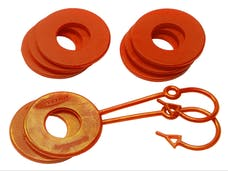 Daystar KU70061FA D-Ring Locking Washer Set, 2 locking, 6 non-locking, Fl. Orange