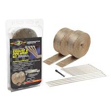 Design Engineering, Inc. 010095 Exhaust & Pipe Wrap Kit, Titanium