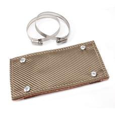 """Design Engineering, Inc. 010453 Titanium Pipe Shield, 4"""" x 8"""""""