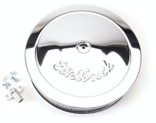 "Edelbrock 1221 Pro-Flo Chrome 14"" Round Air Cleaner with 3"" Paper Element (Deep Flange)"