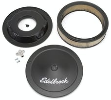 "Edelbrock 1223 Pro-Flo Black 14"" Round Air Cleaner with 3"" Paper Element (Deep Flange)"