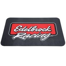 Edelbrock 2324 Racing Fender Cover, PVC Foam Mat, 2 color printed Edelbrock Racing logo