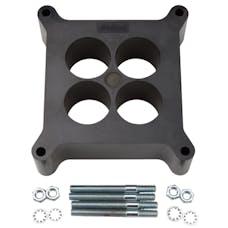 "Edelbrock 8713 Carburetor Spacer - 4150-Style 2"" 4-Hole Spacer, Black Phenolic Plastic"