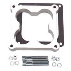 """Edelbrock 8718 Carburetor Spacer - 4500-Style 1"""" Open Cloverleaf Spacer for Holley, Aluminum"""