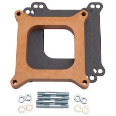 """Edelbrock 8719 Carburetor Spacer - 4150-Style 3/4"""" Open Spacer, Wood Fiber Laminate"""