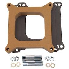 """Edelbrock 8720 Carburetor Spacer - 4150-Style 1"""" Open Spacer, Wood Fiber Laminate"""