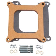 """Edelbrock 8724 Carburetor Spacer - 4150-Style 1/2"""" Open Spacer, Wood Fiber Laminate"""