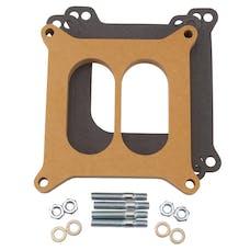 """Edelbrock 8725 Carburetor Spacer - 4150-Style 1/2"""" Divided Spacer, Wood Fiber Laminate"""
