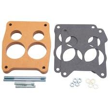 """Edelbrock 8726 Carburetor Spacer - 3/4"""" 4-hole Q-Jet Spacer, Wood Fiber Laminate"""