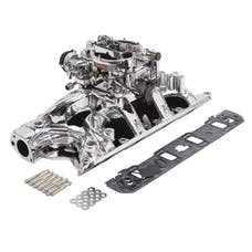 Edelbrock 20344 Single-Quad Manifold And Carb Kit