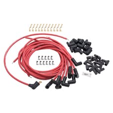 Edelbrock 22711 SPARK PLUG WIRE SET UNIVERSAL 90 DEG BOOTS 50 ohm 8.65mm RED WIRE (SET OF 9)