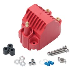Edelbrock 22742 Ignition Coil Universal Ready to Run Domestyle Red