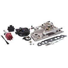 Edelbrock 358400 PRO FLO 4 FUEL INJECTION KIT BBC OVAL PORT 850 MAX HP