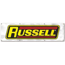 """Edelbrock 600290 BANNER, RUSSELL 27""""X 96"""" VISTA POLY 9 MIL(RED, YELLOW, BLACK)"""