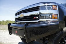 Fab Fours, Inc CH11-S2761-1 Black Steel Bumper with No Guard with Tow Hooks