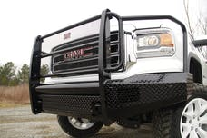 Fab Fours, Inc GM07-K2160-1 Black Steel Bumper with Full Guard with Tow Hooks