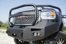 Fab Fours, Inc GM14-A3150-B Premium Winch Bumper with Full Grill Guard Bare