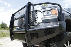 Fab Fours, Inc GM14-S3160-1 Black Steel Bumper with Full Guard with Tow Hooks