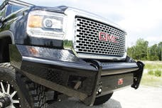 Fab Fours, Inc GM14-S3161-1 Black Steel Bumper with No Guard with Tow Hooks