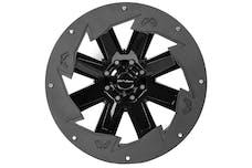 """Fab Fours, Inc SL2407-B 24"""" Wheel Ring 'SAW BLADE' 4PK Bare"""