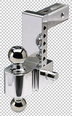 "Fastway 42-00-2600 Fastway 6"" Adjustable Pin Style Aluminum BM 2"" & 2 5/16"" Chrome Balls"