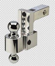 Fastway DT-ALBM6400 4in Adj Dual Locking Aluminum Ball Mount Chrome Balls