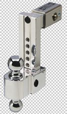 Fastway DT-ALBM6825-2S 2.5in Shank 8in Adj Dual Locking Aluminum Ball Mount Stainless