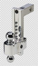 Fastway DT-ALBM7000-2S 10in Adj Dual Locking Aluminum Ball Mount Stainless