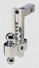 Fastway DT-ALBM7000 10in Adj Dual Locking Aluminum Ball Mount Chrome