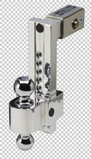 Fastway DT-ALBM7025-2S 2.5in Shank 10in Adj Dual Locking Aluminum Ball Mount Stainless