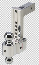 Fastway DT-STBM6800 8in Adj Solid Tow Aluminum Ball Mount Chrome