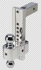 Fastway DT-STBM7000 10in Adj Solid Tow Aluminum Ball Mount Chrome