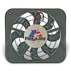 """Flex-A-Lite 111 Fan Electric 12"""" single shrouded Lo-Profile S-blade puller fan w/ controls"""
