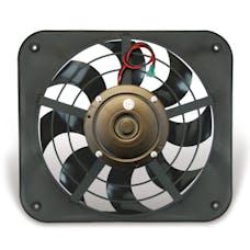 """Flex-A-Lite 143 Fan Electric 12"""" single shrouded Lo-Profile S-blade pusher fan w/o controls"""