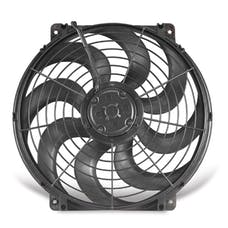 "Flex-A-Lite 392 Fan Electric 12"" single pusher or puller S- Blade universal w/o controls"