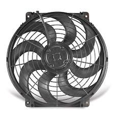 "Flex-A-Lite 396 Fan Electric 16"" single pusher or puller S- Blade universal w/o controls"