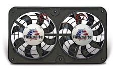 "Flex-A-Lite 410 Fan Electric 12 1/8"" dual shrouded puller Lo-Profile S-blade w/var speed control"