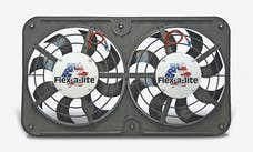 "Flex-A-Lite 420 Fan Electric 12 1/8"" dual shrouded puller Lo-Profile S-blade w/o controls"