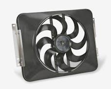 """Flex-A-Lite 485 Fan Electric 15"""" single shrouded puller S-Blade w/ controls"""