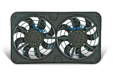 "Flex-A-Lite 490 Fan Electric 12 1/8"" dual shrouded push/pull uni X-treme S-blade w/o controls"