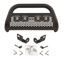 Go Rhino 55654LT RC2 LR - 4 lights - Complete kit: Front guard + Brackets + GR Lights