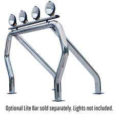 Go Rhino 9009516SSC RHINO! Bed Bar - Complete kit: Main bar + Kickers