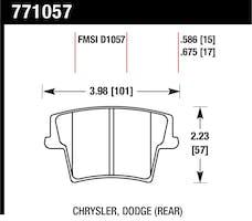 Hawk Performance 771057 OES Disc Brake Pads